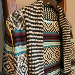 Chevron Open Front Sweater